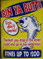 BIN YOUR BUTS - Fish Don't Smoke